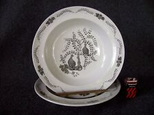 Set of 2 Rimmed Soup Bowls Wedgwood Partridge in a Pear Tree TK489 Gray White
