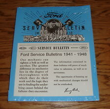 1941-1948 Ford Service Bulletin Manual 41 42 46 47 48