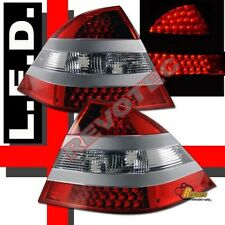 2000-2005 Mercedes Benz W220 S Class S430 S500 S55 LED Tail Lights Silver Strip