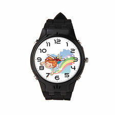 Kids Real GPS tracker watch phone for children child safe security SOS Black