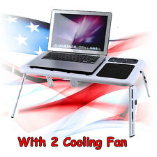 Portable Folding Laptop Desk Adjustable Computer Table Stand Tray For Bed Sofa