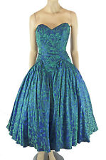 TD4 Eletra Sweetheart Strapless Prom Dress 5/6 1980s Irridescent Party