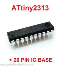 Atmel ATtiny2313 Microcontroller ICs Plus  20 Pin IC Base...