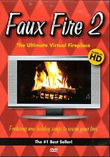 FAUX FIRE 2: THE ULTIMATE VIRTUAL FIREPLACE CHRISTMAS HOLIDAY MUSIC & SOUNDS DVD
