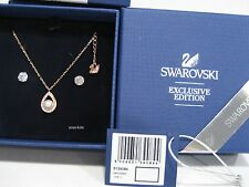 Swarovski Clear Set, Rose gold-plated Crystal/Crystal pearl authentic 5139084
