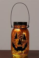 PUMPKIN mercury glass jar with led lights / nice fall decor