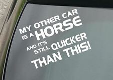 Other Ride's A Horse.. Funny Car/Window JDM VW EURO Vinyl Decal Sticker