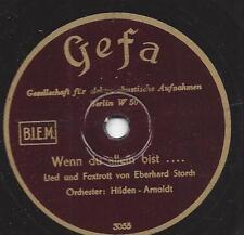 Orchester Hilden-Arnoldt : Wenn du allein bist  + Hoch droben auf dem Berg