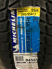 1 New 205 55 17 Michelin Pilot Alpin PA3 Snow Tire