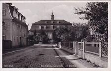alte AK, Herrnhut, Berthelsdorfer Straße mit Kirche