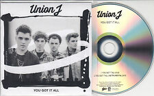 UNION J You Got It All 2014 UK 2-track promo test CD