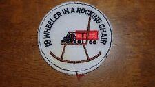 VINTAGE 18 WHEELER IN A ROAKING CHAIR TRUCKING PETERBILT MACK  PATCH BX D #42