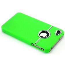 GREEN & SILVER CHROME HARD CASE FOR IPHONE 4/4S With Screen Protector & Cloth