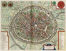 MAP ANTIQUE VAN LOON ATLAS CITY PLAN BRUGES LARGE REPLICA POSTER PRINT PAM1297