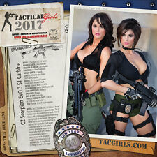 NEW Tactical Girls 2017 Wall Calendar - 13 Months Featuring Women And Weapons