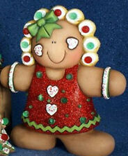 Ceramic Bisque Ready to Paint Large Gingerbread Girl~~ NO CUT OUTS~~