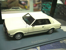 FORD Taunus S TC 2  MKIII 3 Türer weiss white 1979 Hiughenddetail Resin NEO 1:43