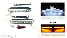 2 X UNIVERSAL LED DAYTIME RUNNING LIGHTS LAMPS DAYLIGHTS TURN SIGNAL INDICATORS
