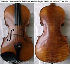 FINE OLD GERMAN MASTER VIOLIN KOCHENDOERFER - VIDEO - ANTIQUE バイオリン скрипка 821