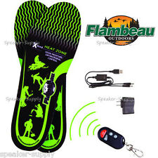 Flambeau Small Hot Feet Heated Shoe Boot Insoles Remote USB Hunting S New F246-S