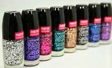 6 Mega Rocks Glitter Nail Color WET n WILD FINGERNAIL POLISH LOT NO REPEATS