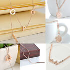 Women Girl's Necklace Simple Cute Pendant Rose Gold Plated Fashion Chain Jewelry