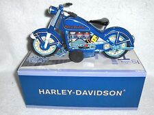 1959 Blue Harley-Davidson Motorcycle Tin Toy Replica MIB Moving Pistons Mint LE