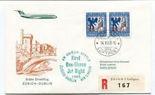 FFC 1965 Swissair First Direct Flight Zurich Dublin Irland REGISTERED Helvetia