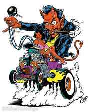 Hot Rod Devil STICKER Decal Poster Artist Coop CP56 Roth Like