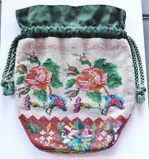 Antique Micro Roses Beaded Handbag Catharine Sagendorfph   AS IS   # 7