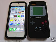 Black Nintendo Game Boy Gameboy - iphone 5 Silicone Full Back Case - Brand NEW