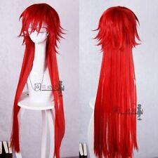 Fashion Anime Black Butler Grell Sutcliff Wig Red Cos Prop STANDARD wigs #mz027