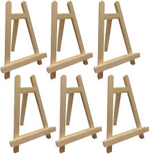 "6 PACK - Small 10"" Tabletop Wood A-Frame Easel Painting Display Stand 006"