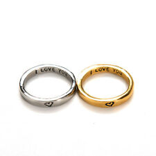 Rarity Forever Love Gold & Silver Heart Couple Rings His and Her Promise UK