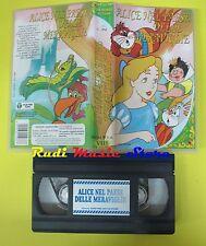 film VHS ALICE NEL PAESE DELLE MERAVIGLIE un mondo di fiabe C-274 (F28) no dvd