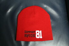 Hells/Hell's Angels  R'Side Hats: Support 81  Red Beanie