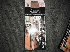 Pretty Essential Comfort Top Knee Highs 15 Denier Natural Shoe Size 2 - 8