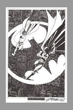 SIGNED George Perez Batman Robin DC Comics Super Hero Art Print OVER GOTHAM