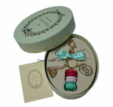 New LADUREE Keychain Ring M Eiffel Tower Macaron Charm in L.Green Gift Box Auth.