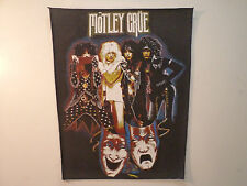 Vintage MOTLEY CRUE 80s  UNUSED BACK PATCH   heavy metal metallica lp cd t shirt