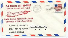 1977 Digital Fly by Wire Shuttle test Flight Tom Mc Murtry Space Cover SIGNED