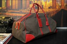 PRADA 100% Authentic Medium Denim Leather Carryall Travel Duffle Gym Bag