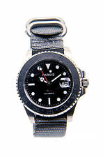 Parnis ceramic-bezel dive-style automatic GMT/24-hr watch, UK Seller, Expr deliv
