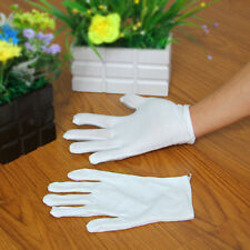 Hot 1 Pairs High Quality Forchette White 100% Cotton Gloves Coin Inspection XL