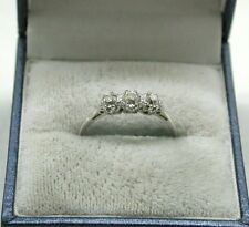 Beautiful Platinum And 0.50ct Three Stone Diamond Ring