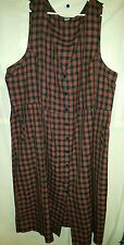 Truly Yours size 30W Plus size jumper dress plaid