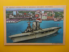 3 x SAN DIEGO California USA c1930s Aircraft Carrier Downtown Botanical Building
