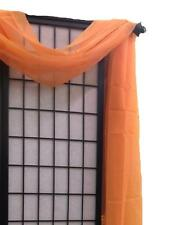 """Simple Sheer Valance Scarf Voile Window Treatment 216"""" Long Over 20 colors"""