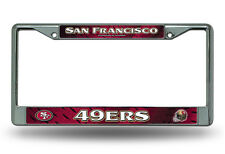 San Francisco 49ers Metal Chrome License Plate Frame Auto Truck Car NFL