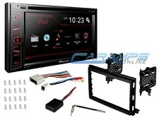 "PIONEER DOUBLE 2 DIN 6.2"" TOUCHSCREEN CAR STEREO W COMPLETE INSTALL DASH KIT SWC"